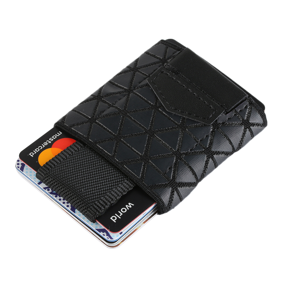 2018Fashion Flexible Men Elastic Band Minimalist Slim Wallet Men Small Business Drivers License ID Credit Card Holder MoneyClip