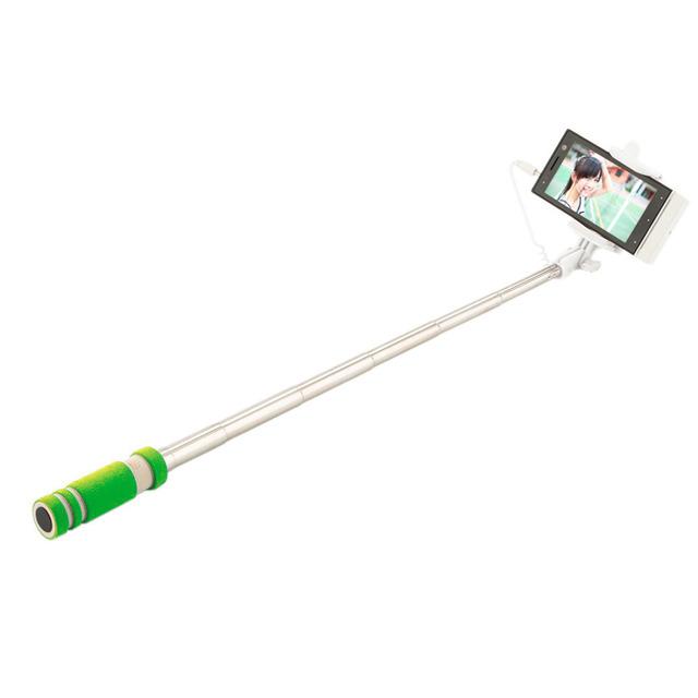 Colorful Striped Design Wired Selfie Stick