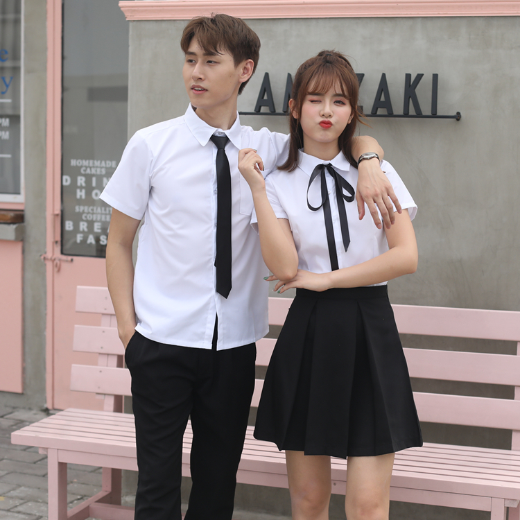 2019 summer japanese school uniforms anime cos sailor suit tops+tie+skirt jk navy style students clothes for girl short sleeve