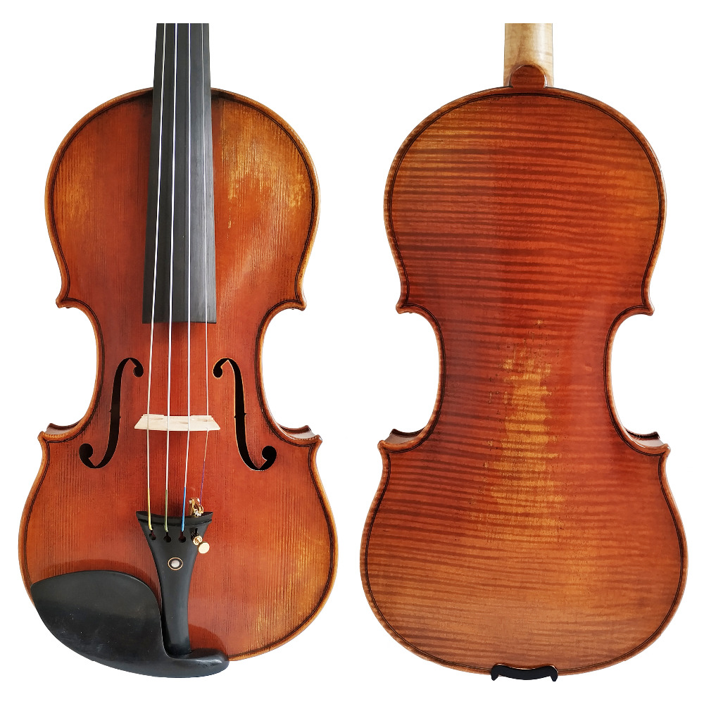 Free Shipping Copy Stradivarius 1716 100% Handmade spirit Varnish Violin + Carbon Fiber Bow Foam Case FPVN04 #4 free shipping copy stradivarius 1716 100% handmade oil varnish violin carbon fiber bow foam case fpvn04 8