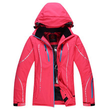 2016 Women's ski clothing outdoor brand waterproof hiking jacket windproof thermal jacket hiking camping skiing super quality