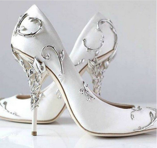 b82cc81efa7d LTTL Unique Design Metal Leaf Decor Bridal Shoes High Heels Blue Satin  Pointed Toe Dress Shoes Women Wedding Stilettos Heels w LTTL Unique Design  Metal Leaf ...