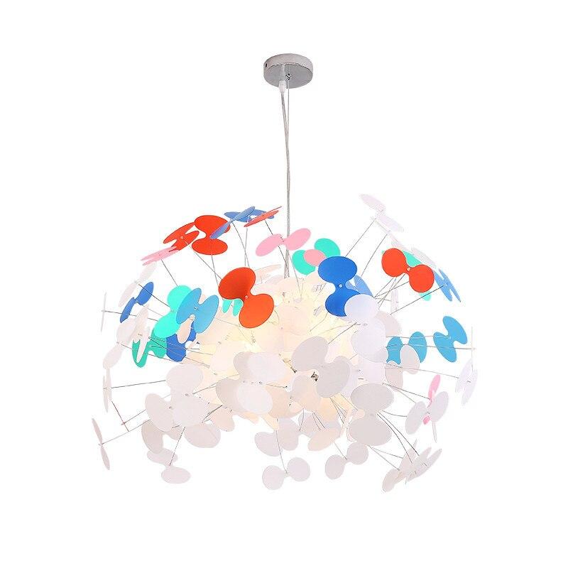 Nordic ผีเสื้อโคมไฟระย้าการ์ตูน Suspension โคมไฟห้องนั่งเล่นเด็กห้องนอน WARM Home แสง PA0459
