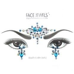 1 blatt Ausgesucht Böhmen Tribal Stil 3D Kristall Aufkleber Gesicht Und Auge Juwelen Stirn Bühne Decor Temporäre Tattoo Aufkleber