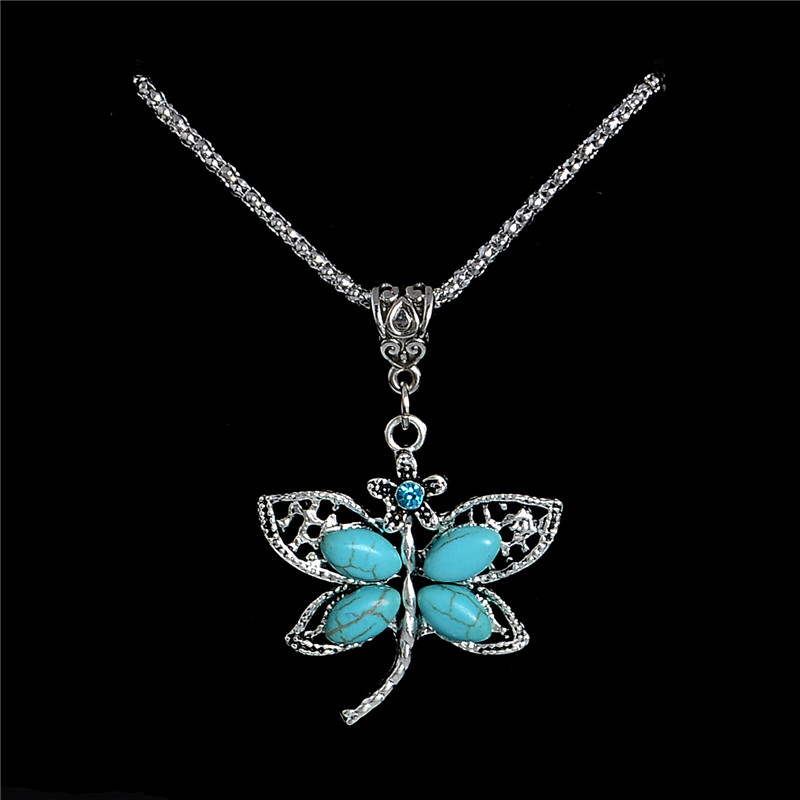 H:HYDE Vintage Dragonfly Necklaces Pendant Necklace Jewelry Bohemia Acessorios para mulher Women Party/Gift