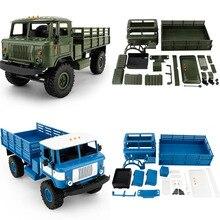 Новый 1:16 wpl b-24diy Военная Униформа газ четыре колеса внедорожных Ползания автомобиля гусеничные модели игрушки дистанционного управления для детская