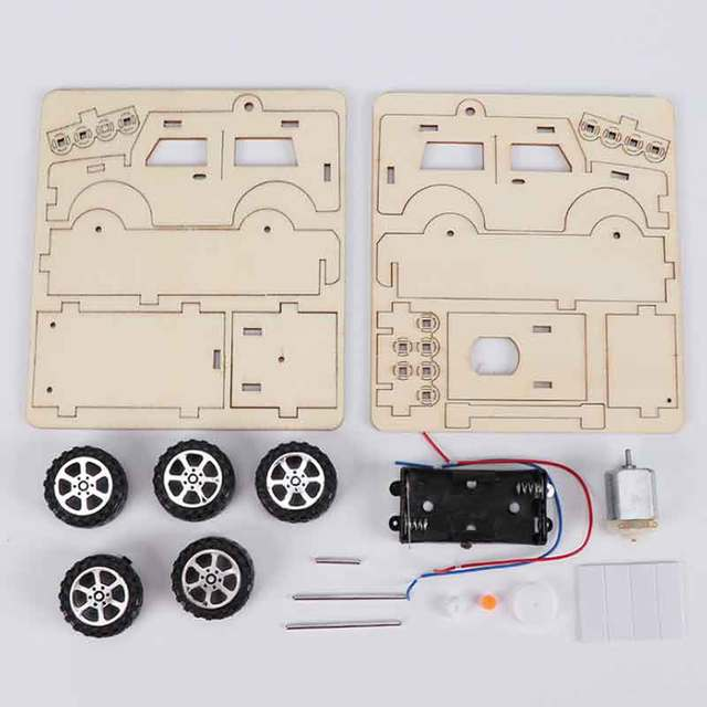 Saizhi DIY Electric Jeep Model Kits Kids Teaching Students Children STEAM Scientific Experiment Vehicle Toys Educational Toy