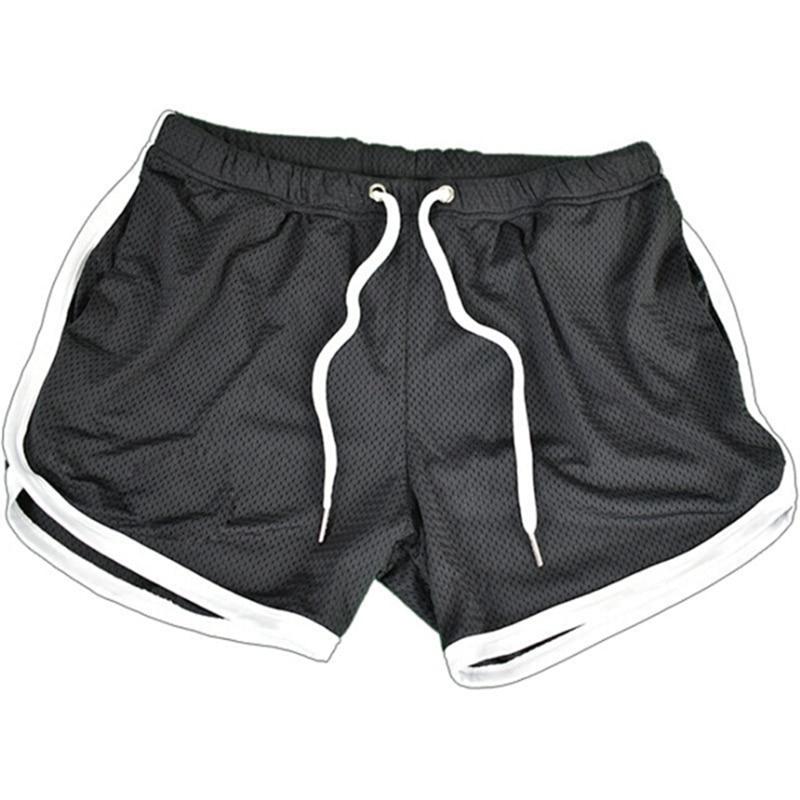 Men Bodybuilding Shorts Fitness Gym Running Jogging Clothing Athletics Net Solid Outdoor Shorts