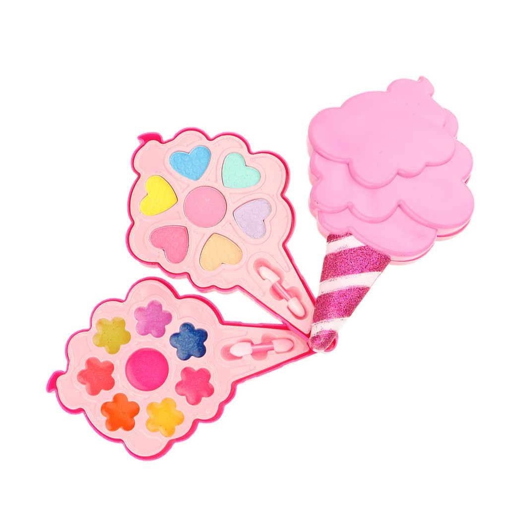 Все-в-одном для девочек мороженое Макияж Ювелирные изделия шкатулка с зеркалом косметические игрушки ролевые игры тени для век помада