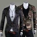ENVÍO GRATIS 2015 nuevos llegados Del Ejército Del juego de Los Hombres Ocasionales Adelgazan Con Estilo apto Solo Botón Suit Blazer Chaquetas Coat