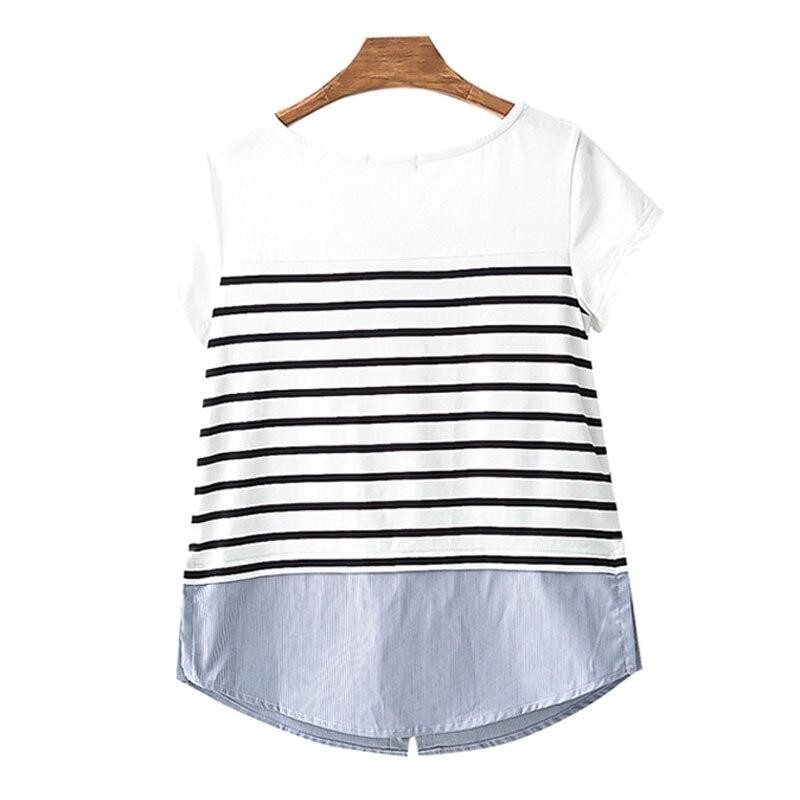 091cb99ff 3716  2018 primavera moda maternidad blusas Patchwork rayas ropa suelta para  las mujeres embarazadas embarazo