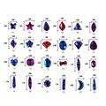 Envío Gratis 100 unids/bolsa Swarovski Corazones Joyas de Uñas Estrellas Flatback Rhinestone Decoración de Uñas De Diamante De Cristal de La Mezcla de Flores Del Arte Del Clavo