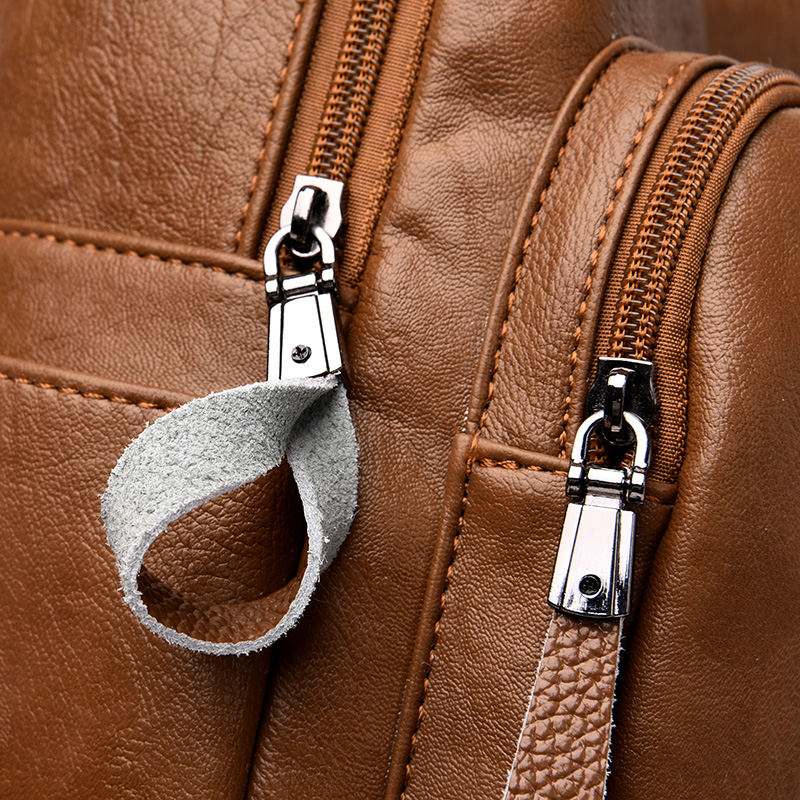 Image 4 - 2019 Women Backpack high quality Leather  Fashion school  Backpacks Female Feminine Casual Large Capacity Vintage Shoulder  BagsBackpacks