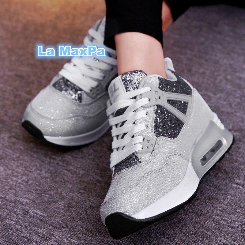 sneakers women Winter new air damping women outdoor running shoes women wedges Increase sport shoes woman zapatos de mujer