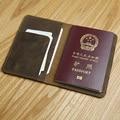 Capa de passaporte de couro dos homens lanspace handmade coin bolsas caso passaporte titulares de marcas famosas