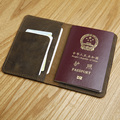 LANSPACE men's leather passport cover handmade coin purses holders famous brand passport case
