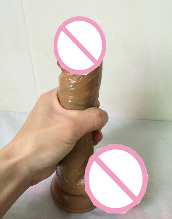 20 4cm Realistic Big Dildo Silicone Flexible Penis Dick With Strong Suction Cup Huge Dildos Cock