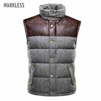 Markeless 2016 Men High End Thick Down Vest Men S Winter Coat Vest Down Man Brand