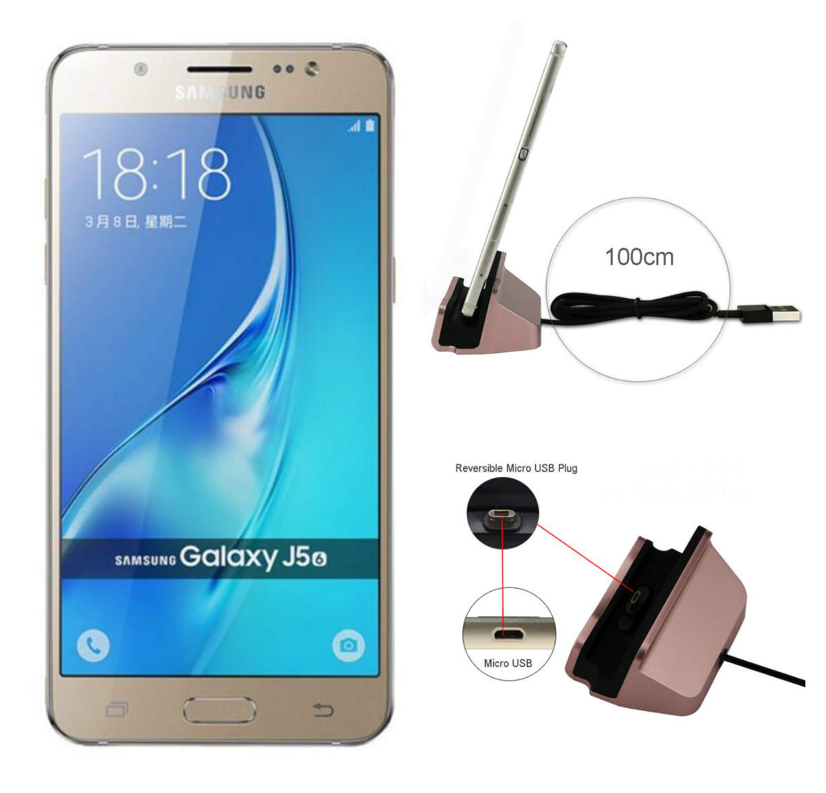 Fast Charging Micro USB Dock Station For <font><b>Samsung</b></font> Galaxy J1 J3 <font><b>J5</b></font> J7 A7 A3 A5 <font><b>2016</b></font> A510 J510 USB Cable <font><b>Charger</b></font> Dock Station Stand