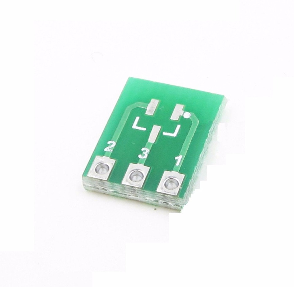 10pcs New Double-Side SMD SOT23-3 to DIP SIP3 Adapter PCB Board DIY Converter double side sop28 sop16 ssop28 to dip28 dip16 adapter breakout board for arduino 3 pcs