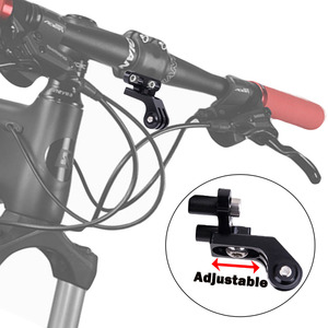 Image 3 - JINSERTA soporte para luz para Gopro 7 6 5 extensión de manillar de vástago de cámara, adaptador para bicicleta de montaña y carretera
