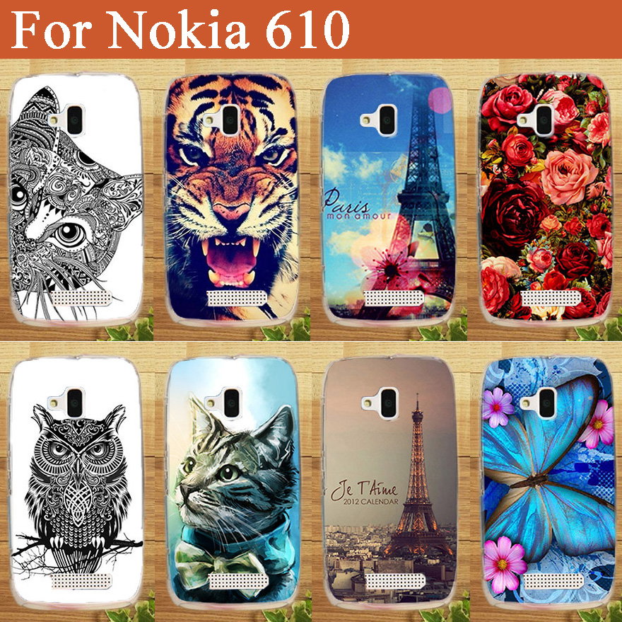 Fashion Colored Animals Design For Microsoft Nokia Lumia 610 nokia 610 Brilliant Best Painting 14 Stylish Eiffel Tower Top case