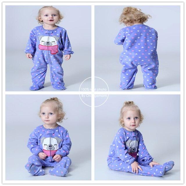Orangemom Christmas Spring Autumn Baby Clothing Newborn Soft Fleece Rompers 0-24m Infant Jumpsuit Baby Cartoon Costumes Pajamas 4