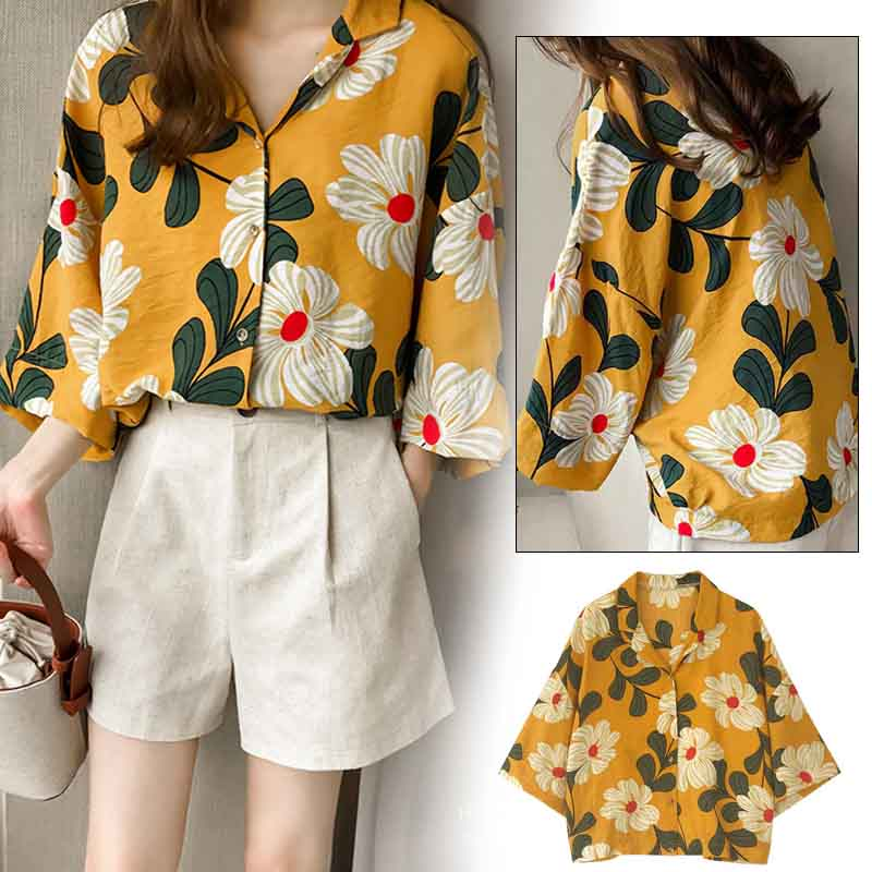 Vintage Chiffon   Blouse     Shirt   Women Home Tops Soft Women'S Tops Cotton