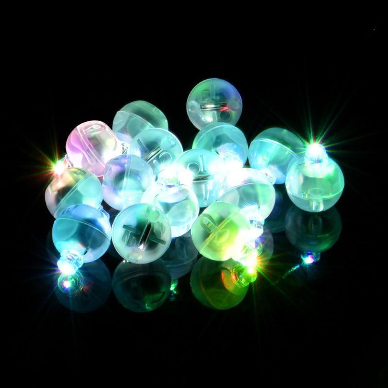 6pcs Round Ball Tumbler Led Balloon Lights Mini Flash Luminous Lamps For Lantern Bar Christmas Wedding Party Decoration