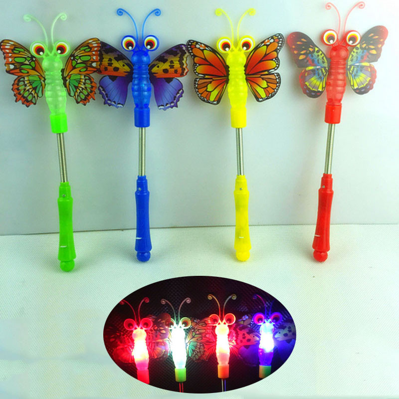 Novelty & Special Use Costume Props Bright Children Led Magic Animal Butterfly Wand Sticks Flashing Light-up Glow Spring Sticks Party Concert Cheering Props Christmas High Quality Materials