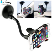 Ascromy-Soporte Universal para teléfono de coche, abrazadera de brazo largo para parabrisas, soporte de ventosa fuerte para iPhone, Samsung, Xiaomi