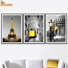 COLORFULBOY Paris City Wall Art Canvas Prints Landscape Nordic Posters And Painting Pictures For Living Room