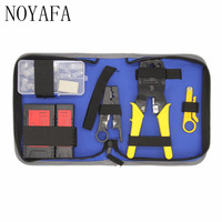 NF 1206 Professional Network Computer Maintenance Repair Tool Kit Lan Cable Tester NF 468 Wire Stripper Crimping Tool Set