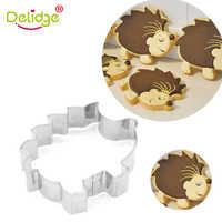 Delidge 1 Pc Hedgehog Tier Form Cookie Cutter Mold Food Grade Edelstahl DIY Fondant Gebäck Dekorieren 3D Keks Form