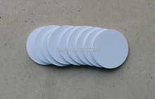 Dia 25mm 125KHZ PVC Tag RFID T5577 White Coin Disc Label for Access Control System 20pcs/lot