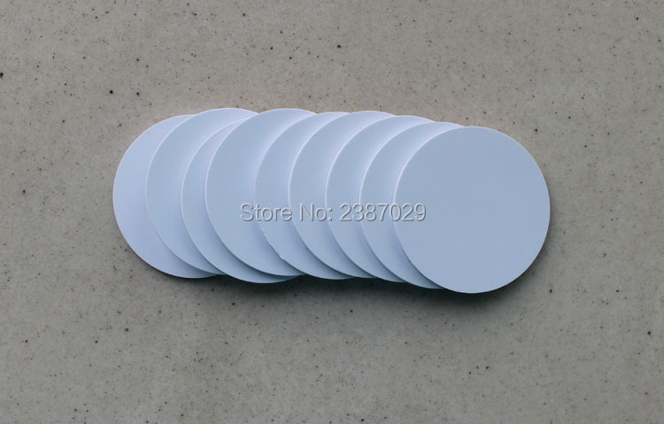 Dia 25mm 125KHZ PVC Tag RFID T5577 White Coin Disc Label for Access Control System 20pcs/lot напольная плитка paradyz cloud rosa 30x30