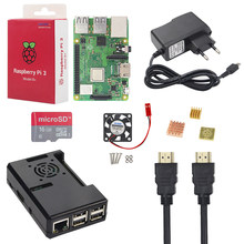 New Raspberry Pi 3 Model B+ Kit + 16 32 GB SD Card + Case + Fan + 2.5A Power Adapter + HDMI Cable + Heat Sink RPI 3 B Plus B+(China)