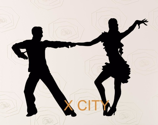 Rumba latin dance silhouette wall decal vinyl sticker art decor home room mural stencil 58 x