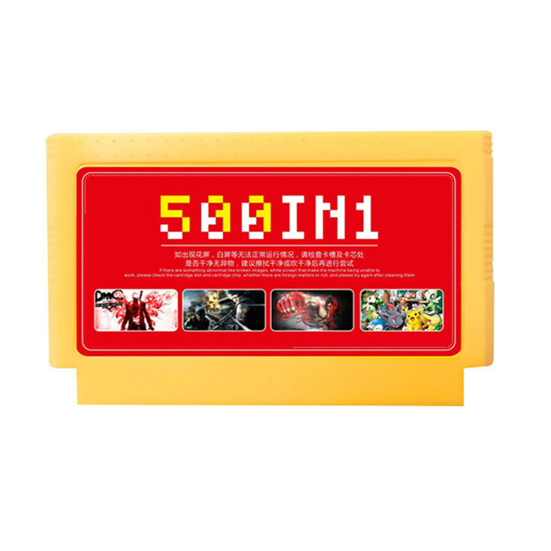 ClassicGames 8 Bit Collection 60 Memory Pins yellow card 500 in1 for Video Console Game Card do not repeat Super Game Card