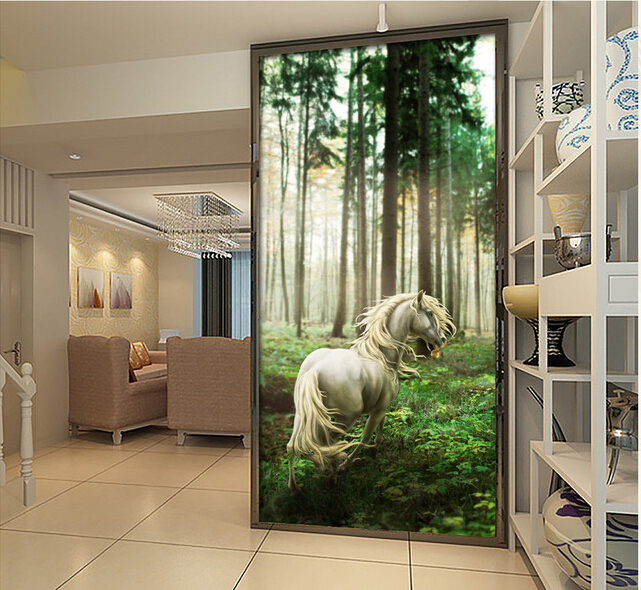 Custom horse wallpaper 3D, forest horse murals for the living room TV background wall waterproof fabric papel de parede custom wallpaper murals ceiling the night sky for the living room bedroom ceiling wall waterproof papel de parede