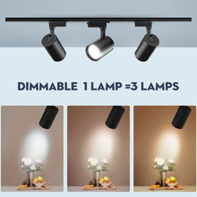 Adjustable 12/30/40W 220V 20W Dimmable LED Track Light COB Lamp Spot Rail Lights Ceiling Spotlights Kitchen Shop Store Lighting(China)