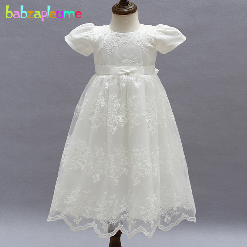 Baby Girl Dress Baptism For Infant 1 2 Years Old Birthday Party Wedding Christening