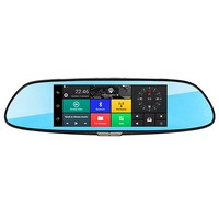 7.0 ''Touchscreen 3G Netwerk Android 5.0 Quad Core RAM 1 GB Bluetooth Dual Cam Spiegel Auto DVR