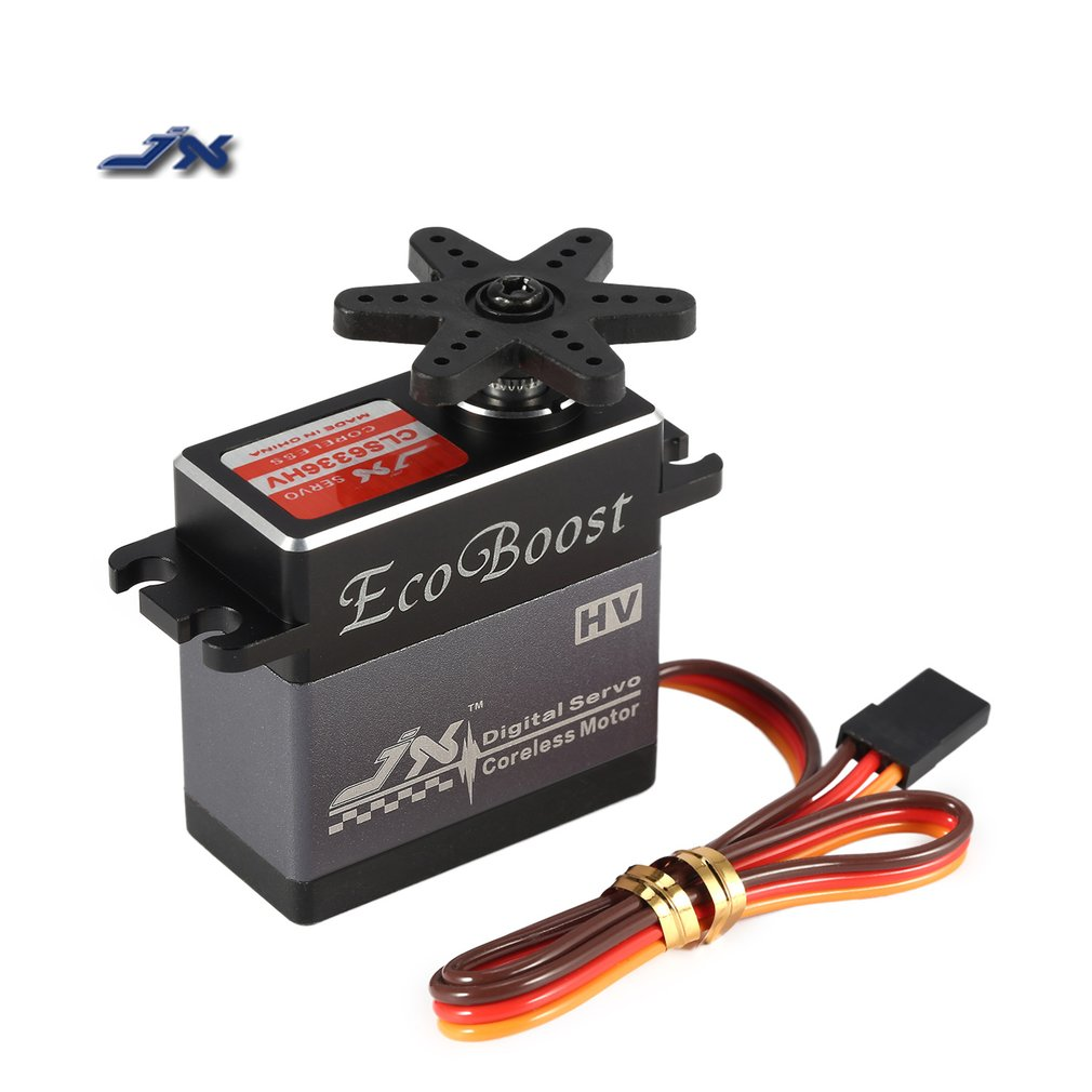 Hot! JX 35KG 6-7.4V High Voltage Metal Gear Aluminium Shell Digital Coreless Servo for 1/8 RC Car 2000mm Fixed-Wing Airplane Toy hitec hs 7945th high voltage titanium gear coreless ultra premium servo 23kg 68g for rc hobby