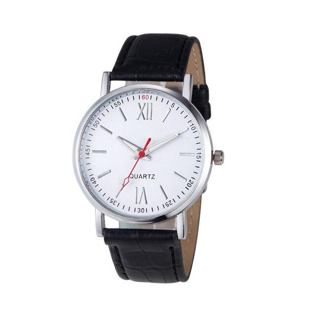OTOKY 2017 Dignity Fashion Men Women Unsex Wristwatches PU Leather Analog Stainl