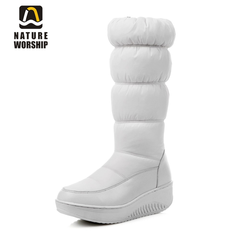Big size 35-44 Keep Warm Women boots mid-calf snow boots cotton down shoes waterproof boots Platforms Wedges heels winter boots fashion keep warm winter women boots snow boots 2017 buckle cotton boots women boots shoes