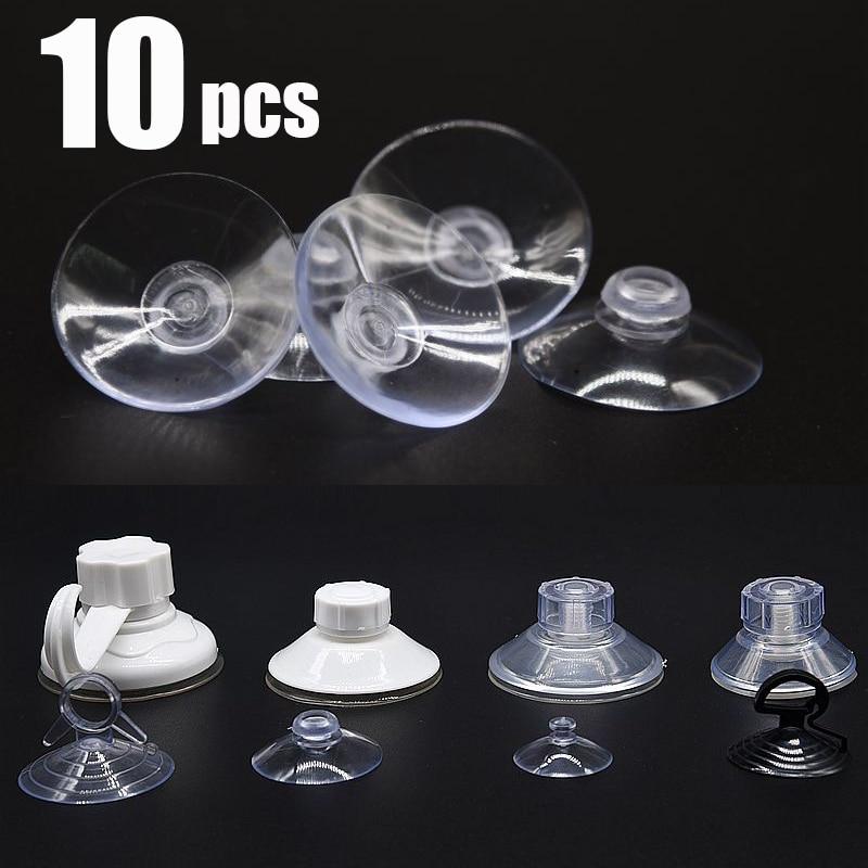 10PC 60-30mm plastic Sucker Suction Cups Vacuum Clear Mushroom Head Strong Vacuum Sucker Hook Hanger window glasses decoration