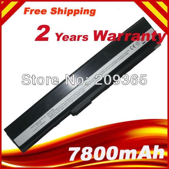 7800mAh Battery For Asus K42JK K42JR K42J V K52 K52 Series K52J K52JB K52JC K52JE K52JK