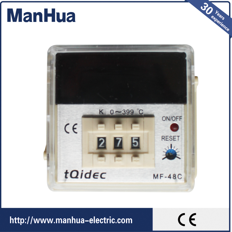 Innovative Product LCD Digital Pid Temperature Controller MF-48C Plug in Types Temperature Recorder Smart