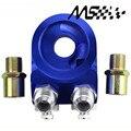 Aluminum AN10 Universal Oil Filter Cooler Sandwich Plate Adapter/Oil Adapter color blue/silver